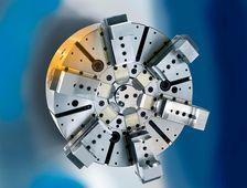 Winkelhebelfutter WHF - Mit integriertem Fliehkraftausgleich für große Bauteile.